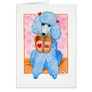 Cartão Pampering da caniche do dia dos pais