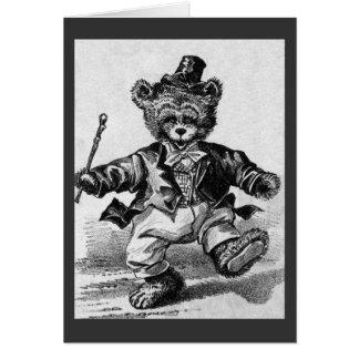 Cartão Pancadinha de dança do urso - letra D - urso de