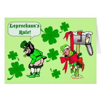 Cartão Pancadinhas da rua da regra dos Leprechauns