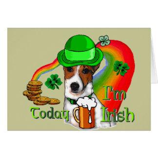 Cartão Pancadinhas da rua de Jack Russell Terrier