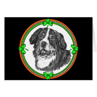 Cartão Pancadinhas do St. do cão de montanha de Bernese