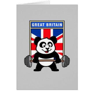 Cartão Panda BRITÂNICA do halterofilismo