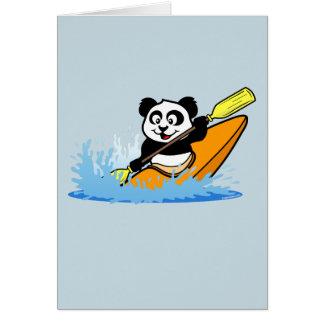 Cartão Panda Kayaking