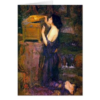Cartão Pandora por John William Waterhouse