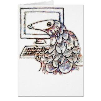 Cartão Pangolin em um computador