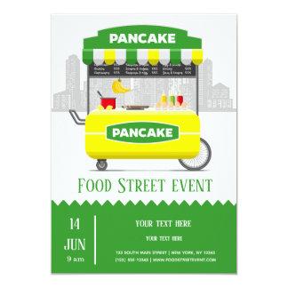 Cartão Panqueca da rua da comida