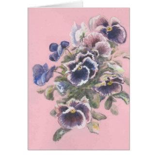 Cartão pansies