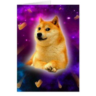 Cartão pão - doge - shibe - espaço - uau doge