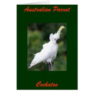 Cartão Papagaio australiano, Cockatoo