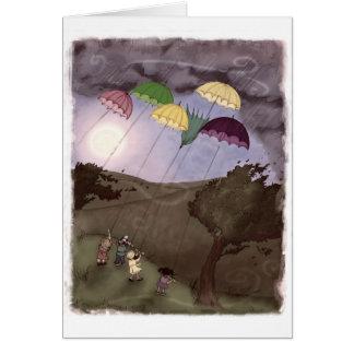 Cartão Papagaios da chuva