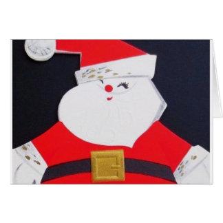 Cartão Papai noel bonito do natal vintage