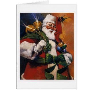 Cartão Papai Noel com presentes