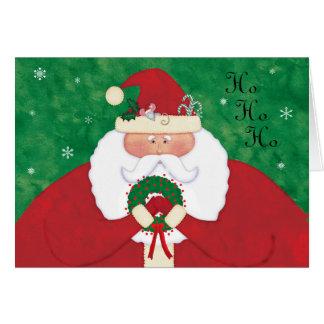 Cartão Papai noel da Noite de Natal personalizado