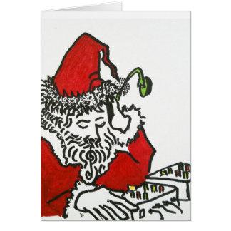 Cartão Papai noel do DJ