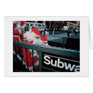 Cartão Papai noel do metro