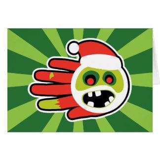 Cartão Papai noel do Natal e do zombi do feriado nenhuns