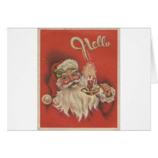 Cartão Papai noel do natal vintage