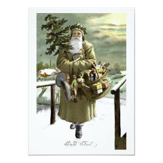 Cartão Papai noel do sueco de julho do deus