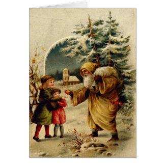 Cartão Papai noel do Victorian