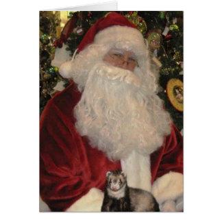 Cartão Papai Noel e a doninha