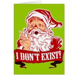 Cartão Papai Noel não existe