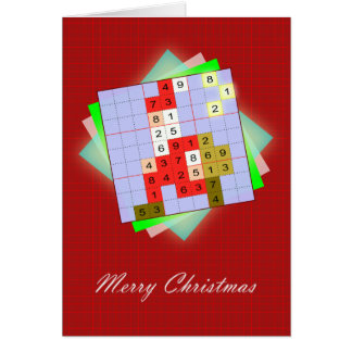 Cartão Papai Noel - Natal Sudoku figurativo