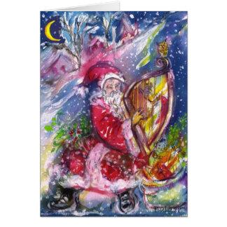 Cartão PAPAI NOEL que JOGA a música da noite de Natal da