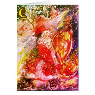 Cartão PAPAI NOEL que JOGA a noite de Natal musical da