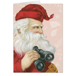 Cartão Papai Noel retro