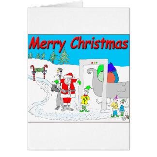 Cartão papai noel s5 e desenhos animados de TSA -