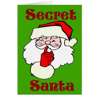 Cartão Papai noel secreto no verde do Natal