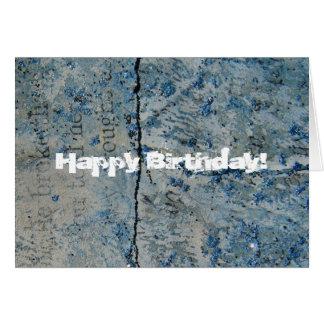 Cartão Papel azul do vintage do brilho, feliz
