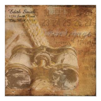 Cartão Papel de carta náutico do álbum de recortes dos