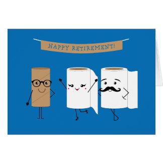 Cartão Papel higiénico feliz customizável da