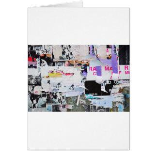 Cartão Papel rasgado estilo de Banksy da parede dos