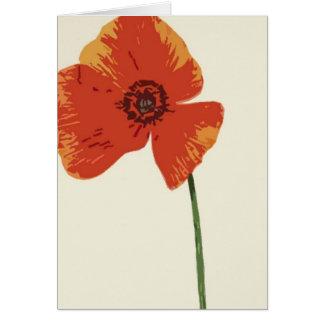 Cartão Papoila vermelha