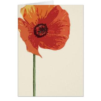 Cartão Papoila vermelha 2