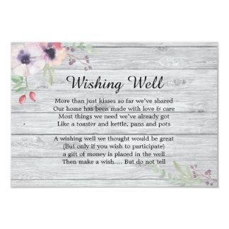 Cartão Papoilas Pastel rústicas que desejam o casamento