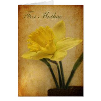 Cartão Para a mãe com Daffodil