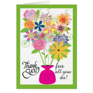 Cartão Para agradecer-lhe no dia do profissional