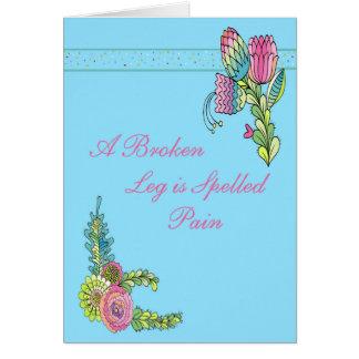 Cartão para alguém com as flores de um rosa do pé