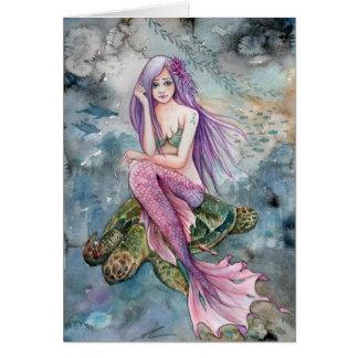 Cartão Para baixo em Atlantis - sereia