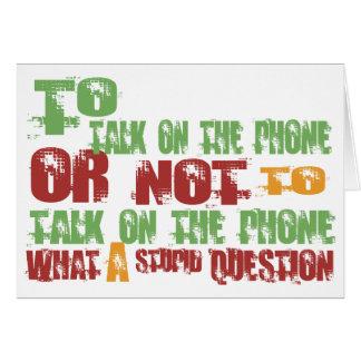 Cartão Para falar no telefone
