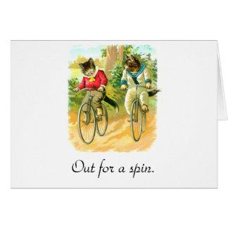 Cartão Para fora para uma rotação
