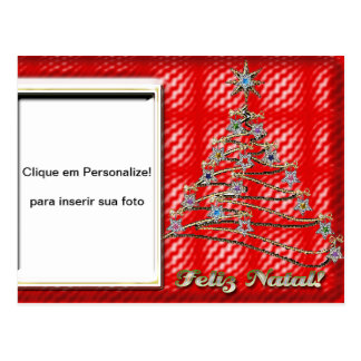 """Cartão para foto """"Árvore de Natal"""" Cartão Postal"""