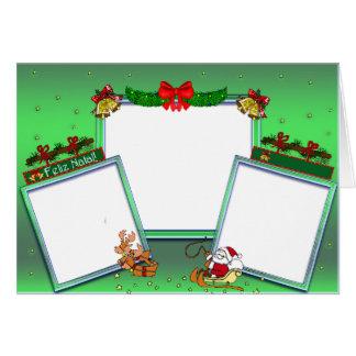 """Cartão para foto """"Feliz Natal"""""""