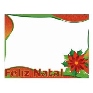 """Cartão para foto """"Feliz Natal"""" Cartao Postal"""