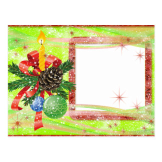 """Cartão para foto """"Laço natalino"""" Cartões Postais"""