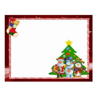 """Cartão para foto """"Natal entre amigos"""" Cartão Postal"""