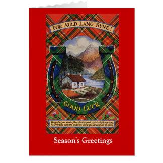 Cartão Para Lang Auld Syne, boa sorte